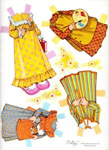 Cheerful Daisy Paper Doll
