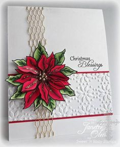 CAS Poinsettia by blessingsX3 - Cards and Paper Crafts at Splitcoaststampers