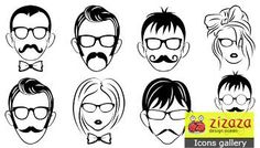 #Icon set - Faces - Zizaza item for #free #icons #iconset #design  man, male, user, face, woman, female, guest