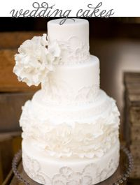 Style Unveiled - Style Unveiled | A Wedding Blog  very frilly and pretty... love the cake, the flower is too big imo. but still love