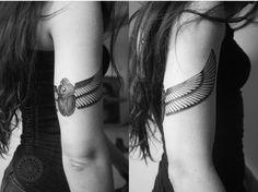 Arm Scarab Tattoo