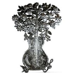 Guitar Bouquet Metal Art - Croix des Bouquets from Latitudes Fair Trade - 74.99