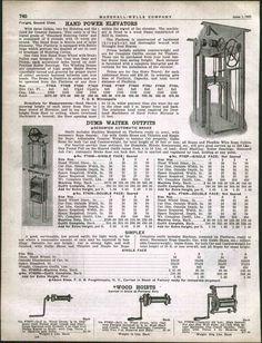 1925 Ad Hand Power Elevator Dumb Waiter Sedgwick | eBay