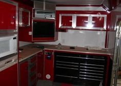 Red Cabinets II in Trailer