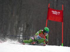 DAY 12:  Maria Shkanova of Belarus competes during the Alpine Skiing Women's Giant Slalom http://sports.yahoo.com/olympics