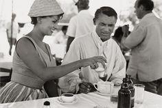 Sophia Loren sweetens Cary Grant's coffee