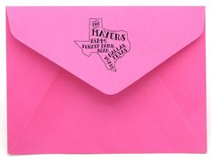 Magnolia Creative Co. | Personalized State Return Address Stamp | Bourbon & Boots ... Ohmigosh! I have to have this!!!
