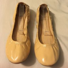 Authentic Tory Burch Eddie Flats Note: there is a small tear on the top of the right toe, hardly noticeable. They have plenty of life left in them. Tory Burch Shoes Flats & Loafers