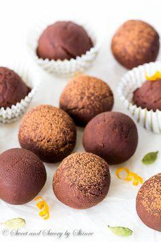 Orange Cardamom Truffles http://livedan330.com/2015/11/17/orange-cardamom-truffles/