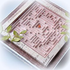 Today's card with a labyrinth of fast - a slightly different version of the Shaker Box. You can have fun :)