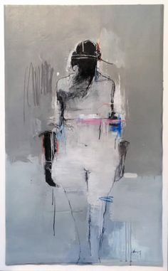 HARRY PAUL ALLY | Rare Form Figure Painting, Figure Drawing, Painting & Drawing, Famous Black Artists, Silhouette, Found Art, Black And White Painting, Art Moderne, Abstract Oil