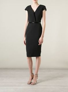 Victoria Beckham V-neck Fitted Dress - Mcmarket Monaco - Farfetch.com