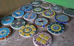 Free Patterns Mosaic Stepping Stones | steppingstonesW