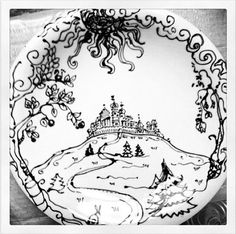 more of her decorated plate