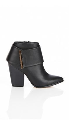 The svelte and stylish Gigi Ankle Wedge Boot is crafted from delightfully soft vegan leather, and features a wrap around feature ankle cuff with gold metal edging. With a street wise stacked heel, the Gigi incorporates style and comfort with it's genuin Boot City, Wide Fit Shoes, Wedge Ankle Boots, City Chic, Shoe Brands, Cute Shoes, Vegan Leather, Wedges, Booty