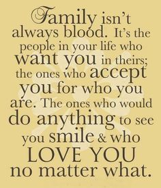 Surround yourself with family