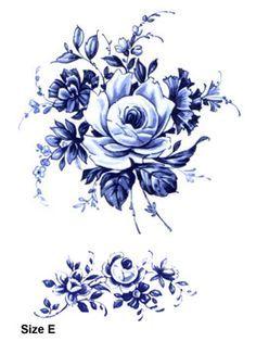 delft blue floral