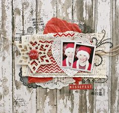 Nissefest by christin.gronnslett at Studio Calico Christmas Scrapbook Layouts, Scrapbook Blog, Scrapbook Page Layouts, Scrapbook Paper Crafts, Scrapbook Supplies, Scrapbook Cards, Christmas Layout, Scrapbooking Ideas, Daisy Patches