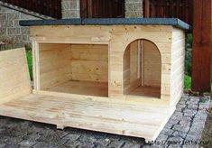 How to make a cat or dog house Мебель своими руками. БУДКА ДЛЯ СОБАКИ (27) (417x291, 81Kb)