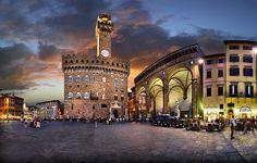 Piazza della Signoria, Firenze, Italy by Batistini Gaston, via Flickr