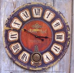 "Vintage Clock ""Paris"""