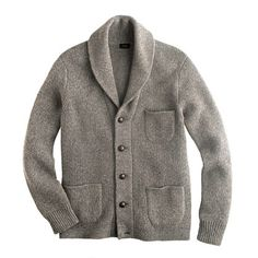 Densely knit and finished with a generous shawl collar and real leather buttons, this lambswool cardigan doubles as a jacket on days when there's just a bit of a chill in the air—and layers smoothly under a parka when it's especially cold out. <ul><li>Lambswool in a 3-gauge knit.</li><li>Shawl collar.</li><li>Chest pocket, patch pockets.</li><li>Dry clean.</li><li>Import.</li><li>Online only.</li></ul>