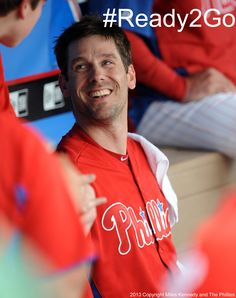 Phillies pitcher Cliff Lee after his first start in the Spring Training #Ready2Go