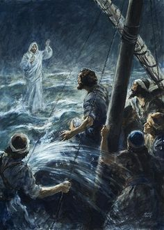 Christ Walking On The Sea Of Galilee Poster By Henry Coller