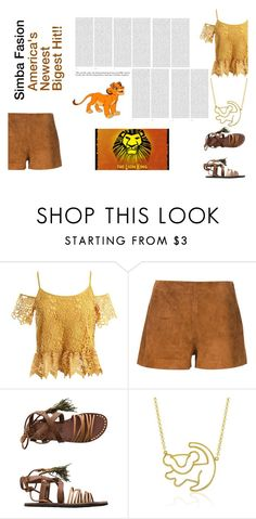 """""""simba"""" by msdesigner1211 ❤ liked on Polyvore featuring Sans Souci, rag & bone, Free People, Disney, Oris and Disney Couture"""