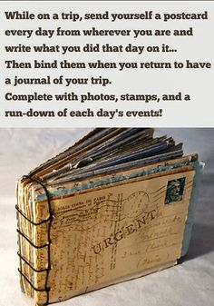 Love this idea, great scrapbook for your adventure!!