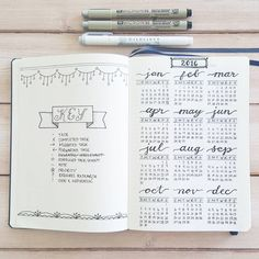 Set-up pages - Key and Calendar. I started my bullet journal just this…