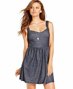 BeBop Juniors Dress, Sleeveless A-Line. I love the black and white one with the white hearts. or the Chambray.