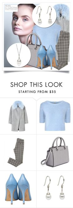 """SHOP - Pearl Collective - Necklace & Earrings"" by pearlcollective ❤ liked on Polyvore featuring Rebecca Taylor, Glamorous, MICHAEL Michael Kors and Semilla"