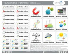 Science  Your personal waterproof labels 68 Qty Free