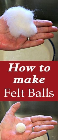 How to Make Felt Balls. Great DIY Tutorial for felting wool balls. These are great to use in so many handmade craft projects. Graphics Fairy