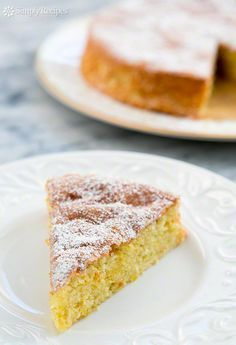 A gluten-free, light and airy lemon cake make with almond flour, eggs, and sugar. Perfect for a holiday dessert! ~ SimplyRecipes.com