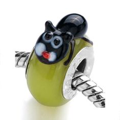 Pugster Peridot Little Black Cat Animal Murano Glass Bead Fit Pandora charm Biagi and Charmilia Bracelet Pugster. $12.49. Weight (gram): 3.1. Size (mm): 9.53*14.18*17.83. Color: Peridot ,black. Metal: Murano glass