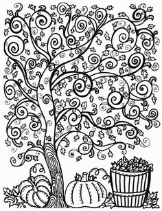 Two free fall coloring pages for bigger kids