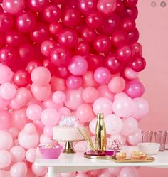 Our great ombre pink balloon wall is sure to get your guests talking and will be a great addition when decorating your venue. Our balloon wall has 210 balloons which cons Balloon Wall Decorations, Balloon Arch Diy, Hen Party Decorations, Balloon Backdrop, Balloon Garland, Pink Decorations, Balloon Background, The Balloon, Pink Birthday Decorations