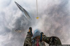 84 Illegal Photographs That Urban Climbers Risked Their Lives To Take: Tallest Building in China: The Shanghai Tower Tour Shanghai, Shanghai Tower, Dubai, Top Of The World, Daredevil, Burj Khalifa, Climbers, Hong Kong, See Photo