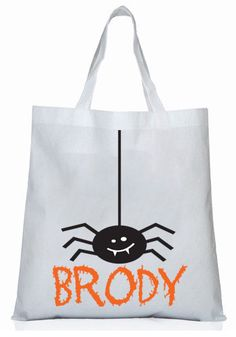 Personalized Halloween tote bag candy bag fall fun by StoykoTs Halloween Pillows, Halloween Bags, Halloween Crafts, Halloween Ideas, Halloween Costumes, Kindergarten Halloween Party, Trick Or Treat Bags, Candy Bags, Kids Bags