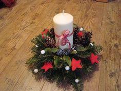 vánoční svícen na hřbitov