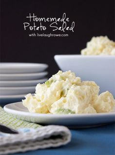 The perfect side dish for summer picnics and/or barbecues! Homemade Potato Salad with livelaughrowe.com