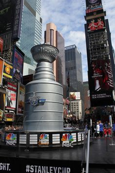 Behold! The 21 foot tall, 6,600 lb Stanley Cup Fountain!