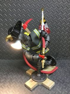 Fire fighter Desk Lamp Pipe Lighting, Task Lighting, Cool Lighting, Diy Pipe, Steampunk Lamp, Led Desk Lamp, Table Lamp, Desk Light, Lamp Light