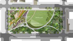 Park Landscape, Urban Landscape, Landscape Design, Landscape Diagram, Landscape Plans, Landscape Architecture Drawing, Green Architecture, Classical Architecture, Ancient Architecture