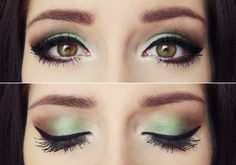 Perfect fall beauty look.  Get your Earth tones on with a beautiful pop of color with this amazing look.