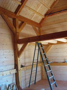 Timber Framing a North Idaho Cabin: July 2008