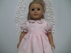 American Girl dressy dress and pinafore. by Marshasminiatures, $17.50