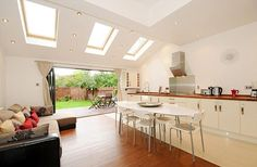 Bringing the outdoors in: An open plan house where the dining area is designed to open onto the garden